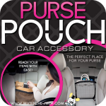 Purse Pouch ตาข่ายเก็บกระเป๋าในรถยนต์
