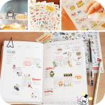 Cute Piggy Stickers สติกเกอร์รูปหมูน้อย 6 ชุด