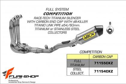ท่อ ARROW RACE-TECH TITANIUM FULL-SYSTEM FOR KAWASAKI ZX10R