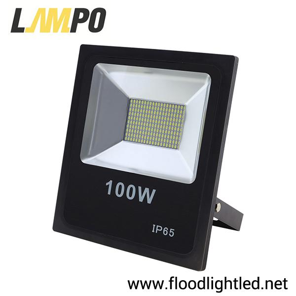 สปอร์ตไลท์ LED 100w รุ่นFIT ยี่ห้อLAMPO (แสงขาว)