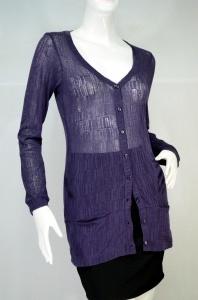 JASPAL เสื้อคลุม cardigan สีม่วง