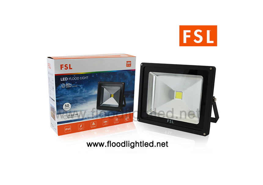 LED Floodlight 50w FSL แสงวอร์มไวท์ (แสงสีส้ม)