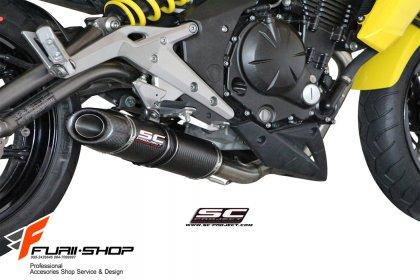 ท่อ SC PROJECT OVAL Fullsystem for Kawasaki ER6N - Ninja 650