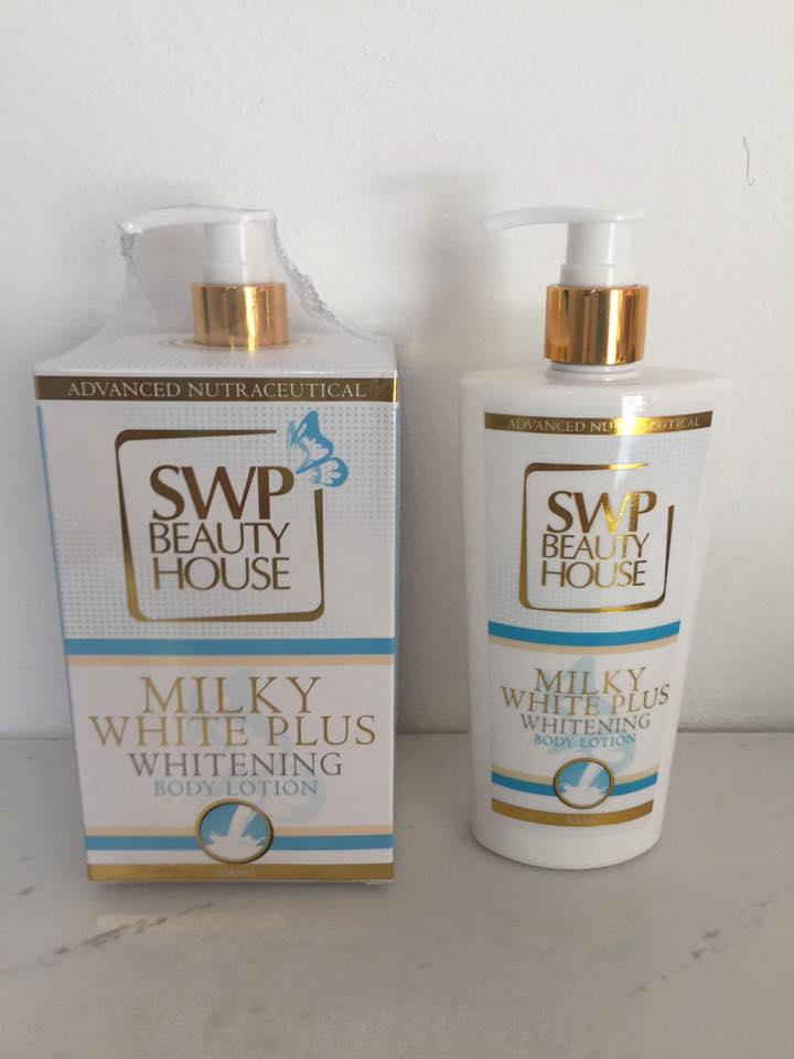 Milky White Plus Whitening Body Lotion by SWP Beauty House 300 ml. โลชั่นน้ำนม