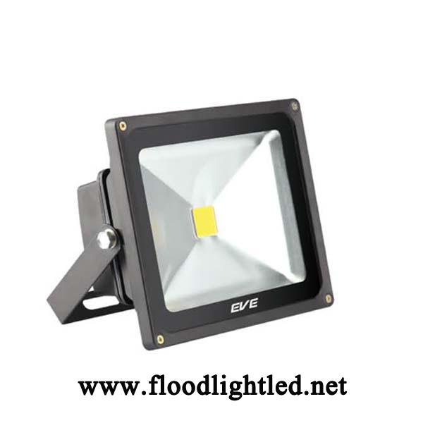 LED Flood Light 30w EVE แสงวอร์มไวท์ (แสงสีส้ม)