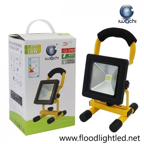 สปอร์ตไลท์ LED 10w รุ่นTGD-005ชาร์ตแบตได้ ยี่ห้อ Iwachi (แสงส้ม)