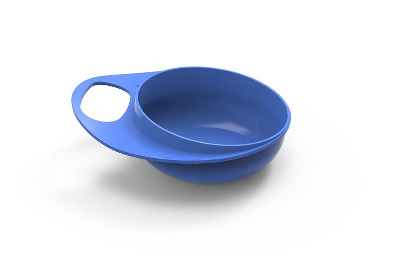 Nuvita - EasyEating Bowl ชามพร้อมที่จับถนัดมือ สีฟ้า