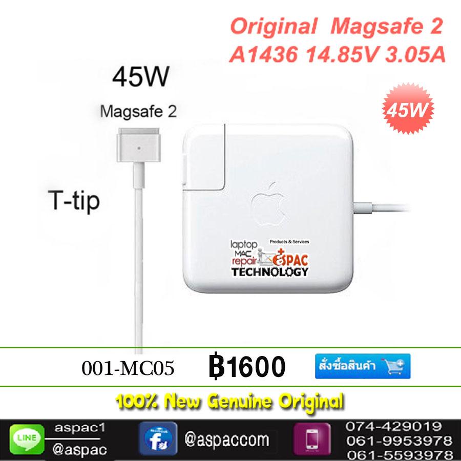 Original Adapter magsafe 2 45W 14.85V 3.05A
