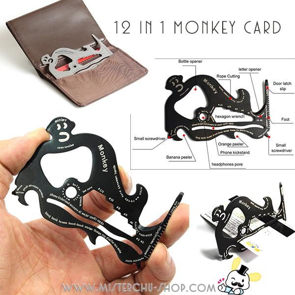 12 in 1 Monkey Card การ์ดลิงสารพัดประโยชน์