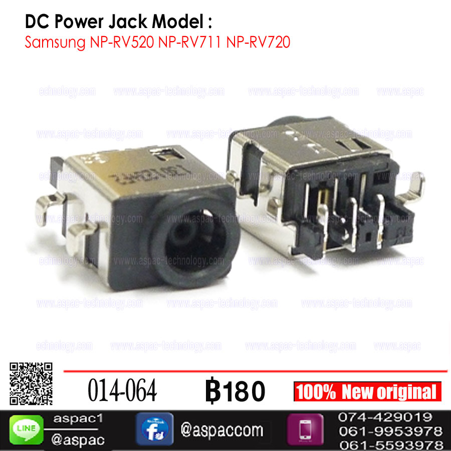 DC Power Jack for Samsung RV510 RV511 RV515 Laptop Charger Socket