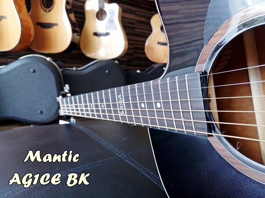 กีต้าร์โปร่ง Mantic AG1CE BK