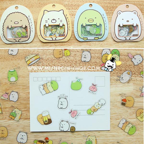 """Sumikko Gurashi Stickers สติกเกอร์ """"ก๊วนมุมห้อง"""""""