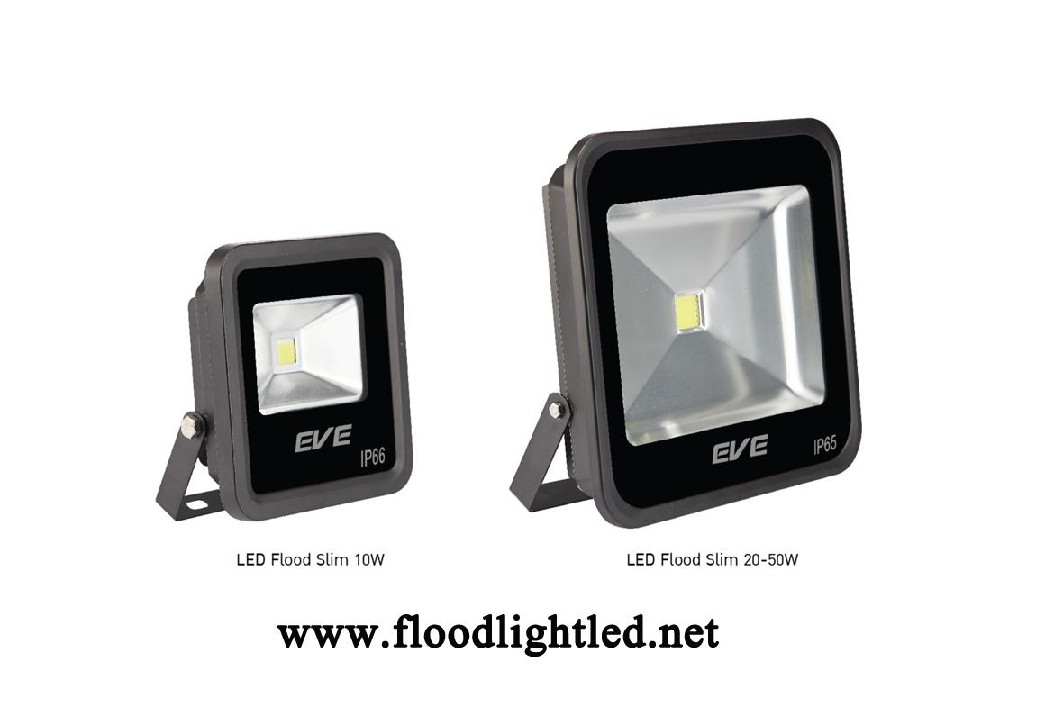 LED Flood Light Slim 30w EVE แสงวอร์มไวท์ (แสงสีส้ม)
