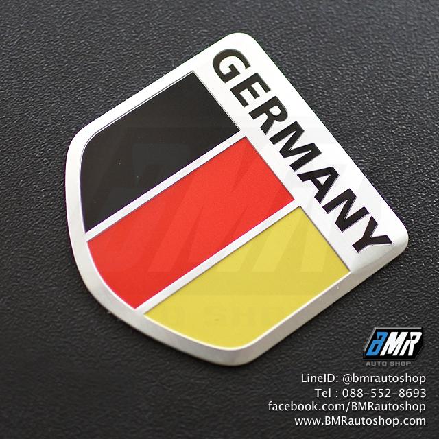 แผ่นโลโก้โลหะ ลายธงชาติเยอรมัน