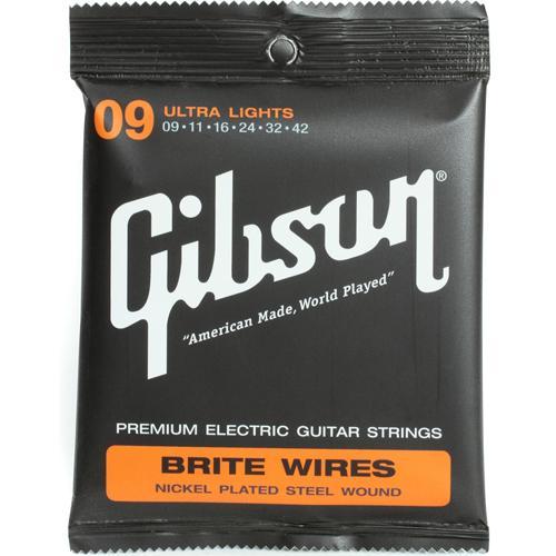 สายกีต้าร์ไฟฟ้า สายกีตาร์ไฟฟ้า Gibson Brite Wires Ultra Light 009-042