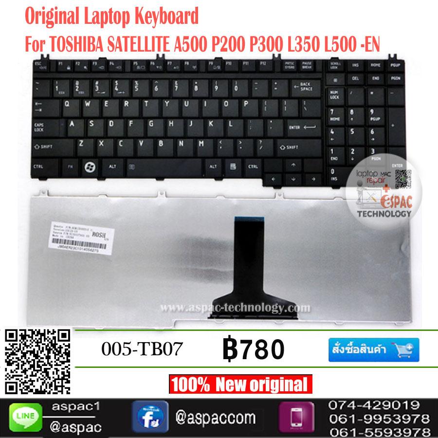 Keyboard TOSHIBA SATELLITE A500 P200 P300 L350 L500 Eng