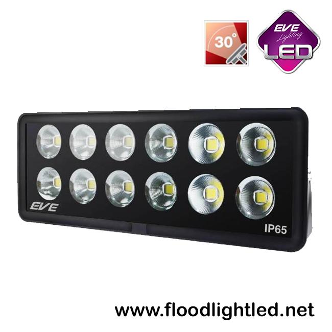 สปอร์ตไลท์ LED 600w รุ่น COB SPOT ยี่ห้อ EVE (แสงส้ม)