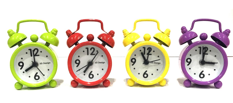 นาฬิกาปลุกจิ๋วชุด 12 ชิ้น (เลือกสีได้) **