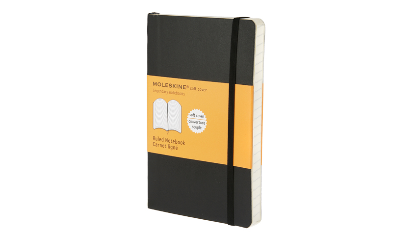 สมุด Moleskine Soft Cover มีเส้นบรรทัด ปกอ่อน สีดำ - ขนาด A5