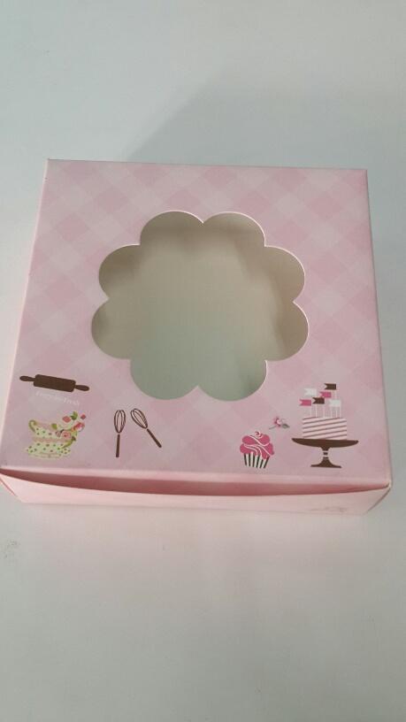 กล่องชิฟฟ่อน สีชมพูลายสก็อต