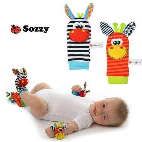 Sozzy สายรัดข้อมือเด็กและถุงเท้าเด็กเสริมพัฒนาการ set 4 ชิ้น**