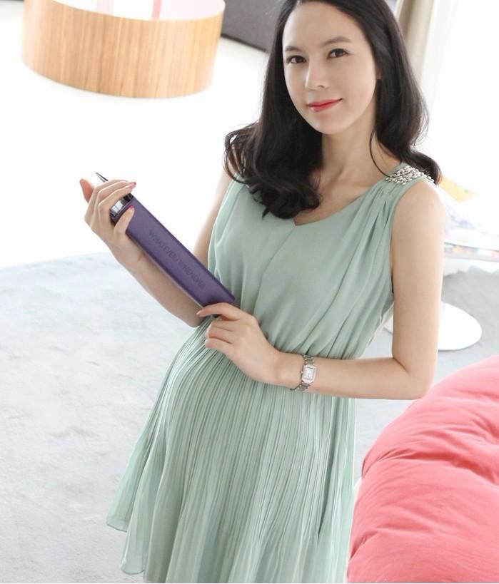 ชุดเดรสคลุมท้อง ผ้าชีฟอง