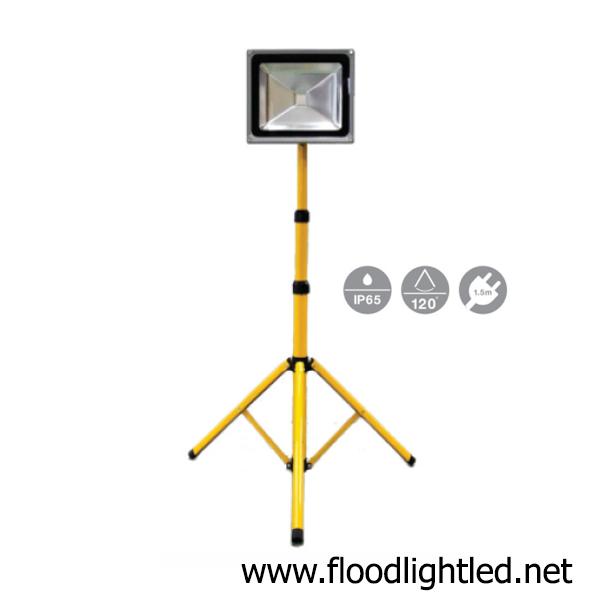 ขาตั้งสปอร์ตไลท์ LED 20w 1 หัว (แสงขาว)