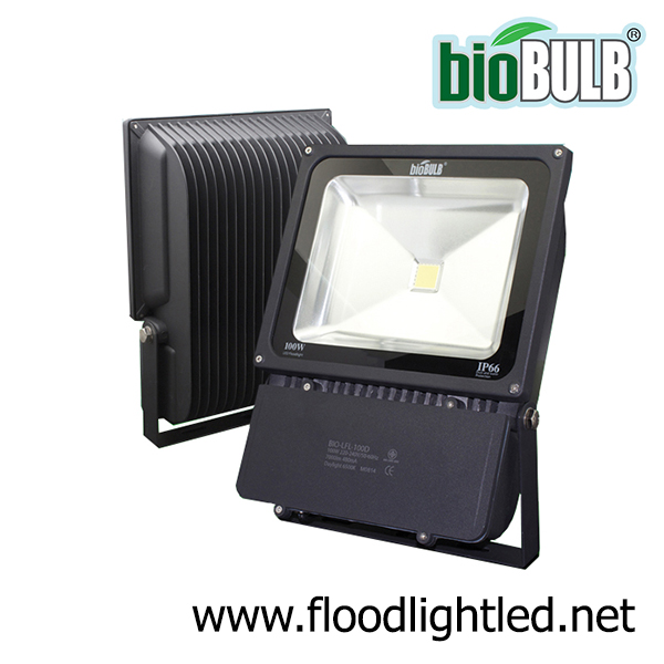 LED Flood Light Slim 100w BIOBULB (แสงขาว)