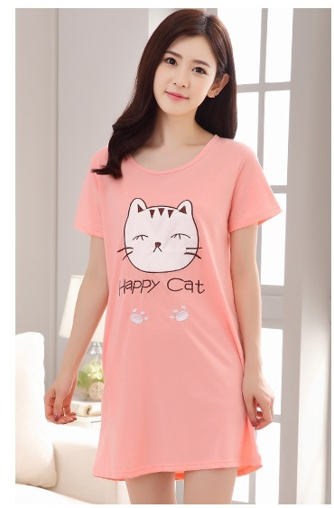 เสื้อคลุมท้อง สีชมพู ผ้า cotton