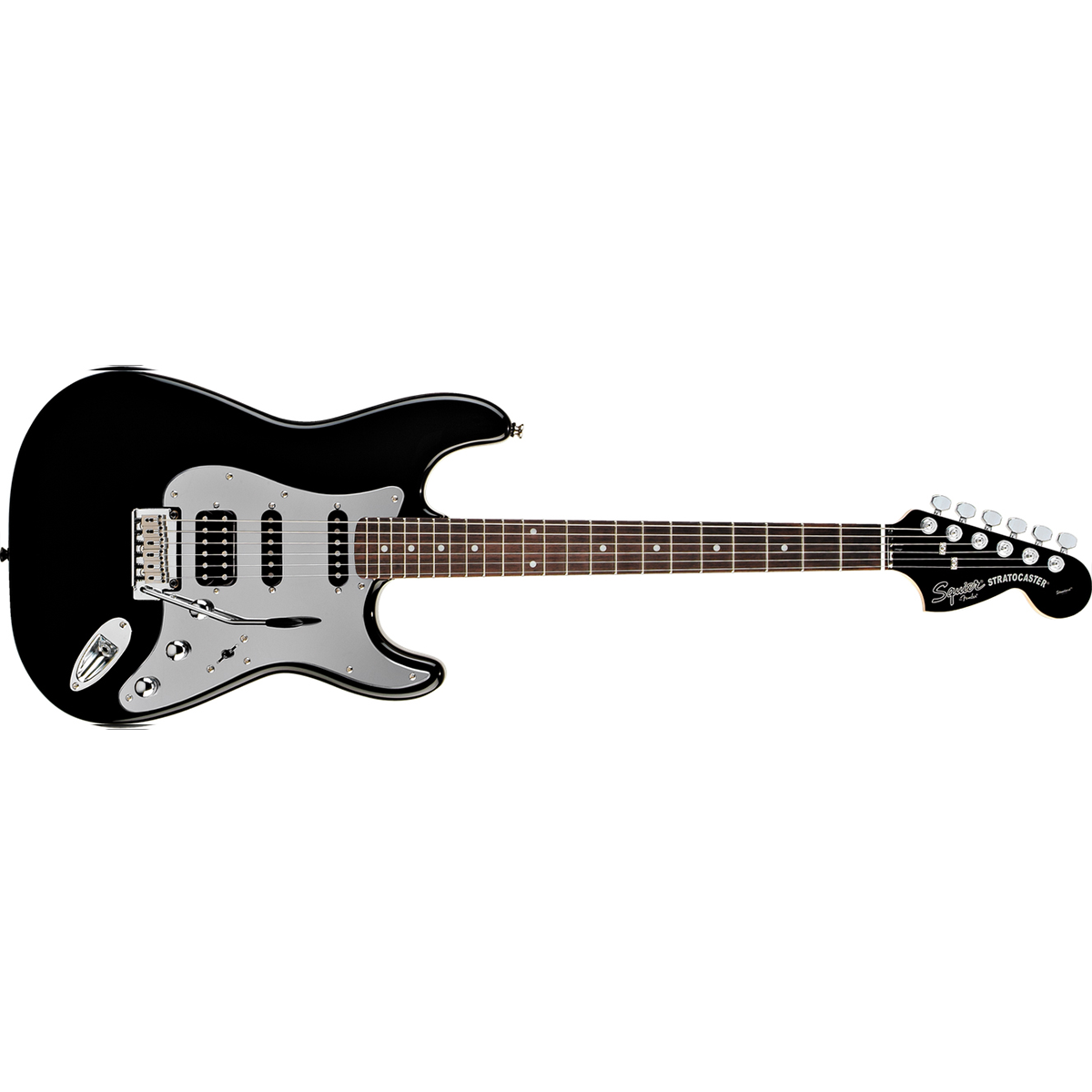 SQUIER BLACK & CHROME Fat Strat
