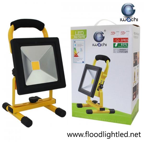 สปอร์ตไลท์ LED 50w รุ่นTGD-005ชาร์ตแบตได้ ยี่ห้อ Iwachi (แสงส้ม)