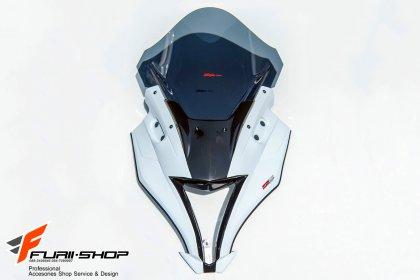 ชิวหน้า MOTOZAAA ทรง ZX10R สีขาว FOR KAWASAKI NINJA300