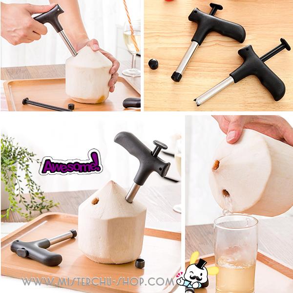 Coconut Driller อุปกรณ์เจาะมะพร้าว ขนาดพกพา