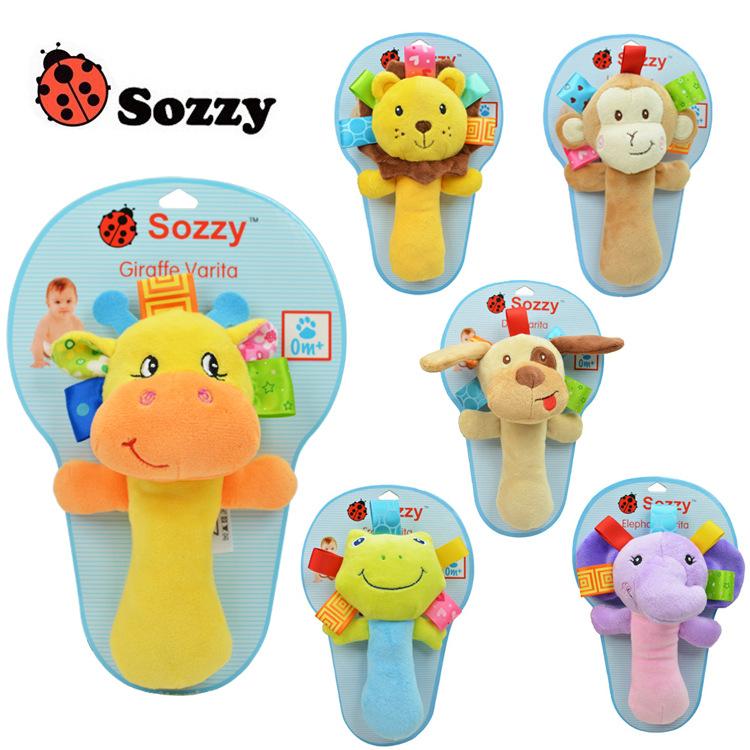 Sozzy ตุ๊กตาเขย่ามือ Cute Puppy (ของเล่นสำหรับเด็กแรกเกิด - 2 ขวบ)**