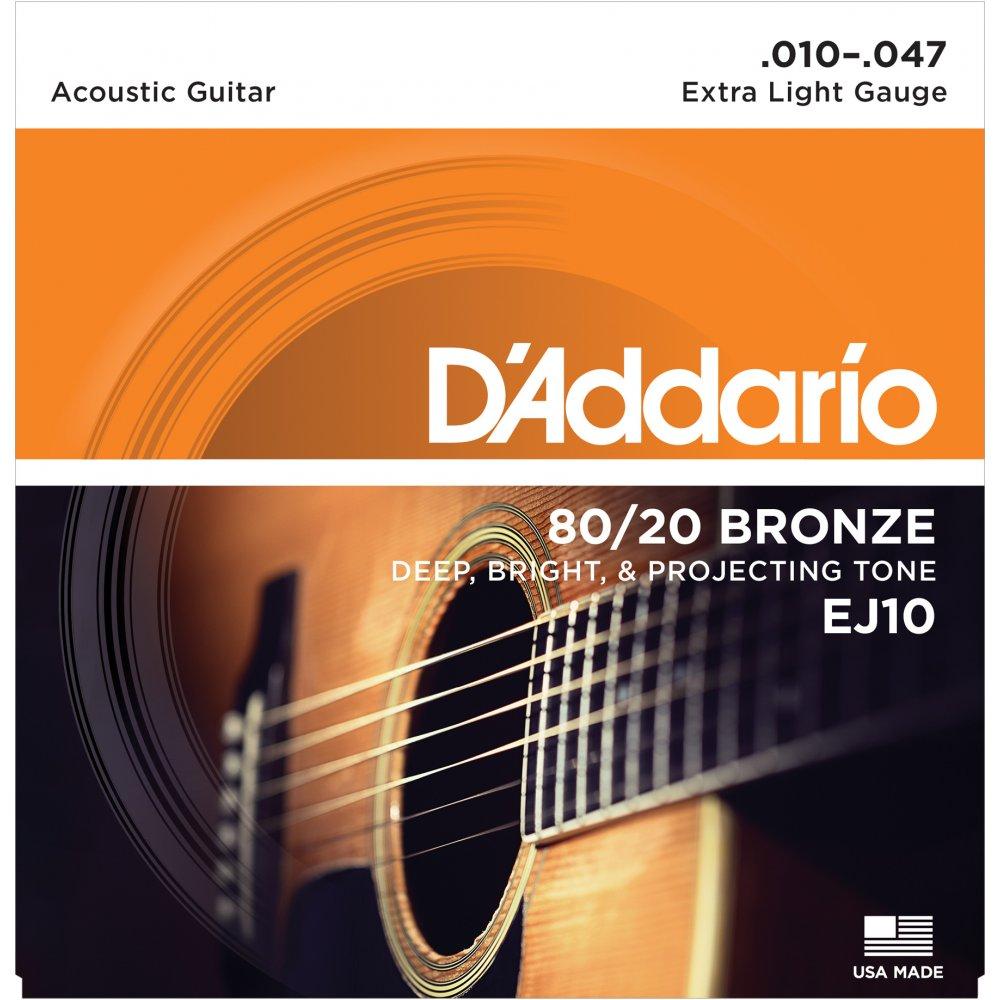 สายกีตาร์โปร่ง D'Addario EJ10