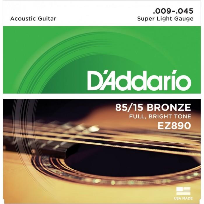 สายกีตาร์โปร่ง D'Addario EZ890 เบอร์09
