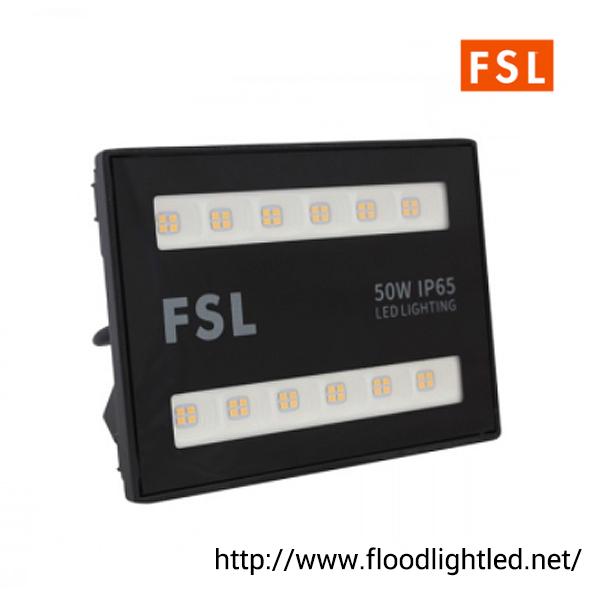 สปอร์ตไลท์ LED 50w ยี่ห้อ FSL (แสงส้ม)