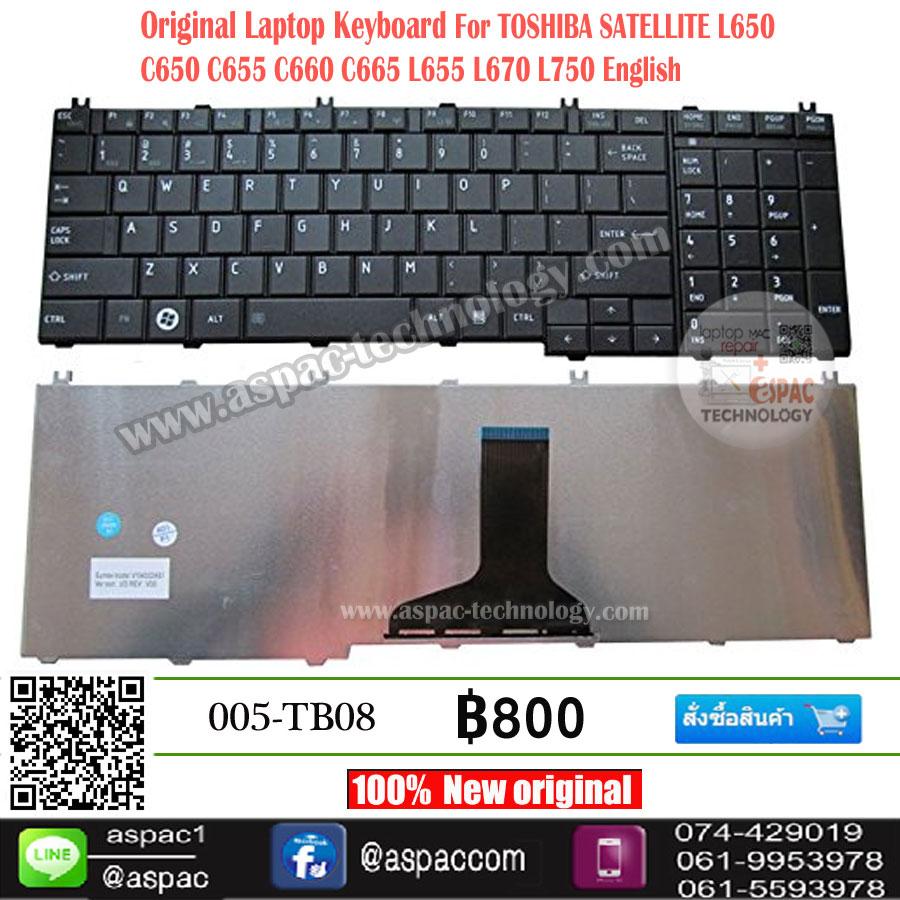 Keyboard Toshiba SATELLITE L650 C650 C655 C660 C665 L655 L670 L750