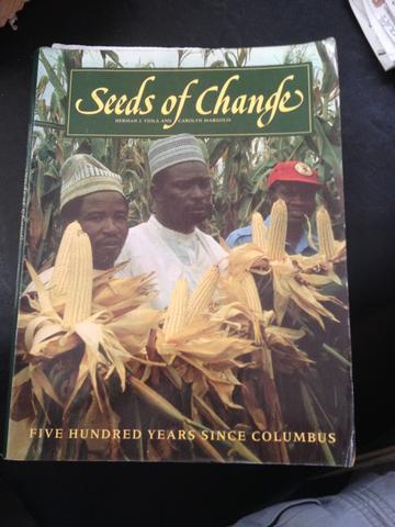 Seeds of change. 500 years since COLUMBUS เป็นหนังสือเก่าหายาก ไม่มีวางขายในท้องตลาด ภาพสีทั้งเล่ม