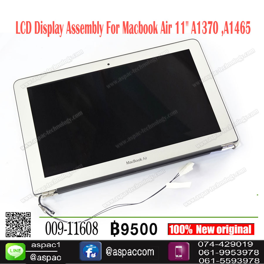 "LCD Display Assembly For Macbook Air 11"" A1370 A1465 (2010-2012)"