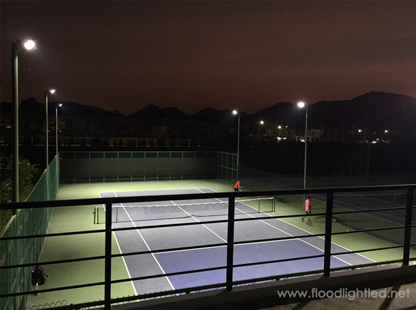 ผลงานติดตั้งสปอร์ตไลท์LED เดือน มี.ค.60 | สนามเทนนิส จ.ชลบุรี