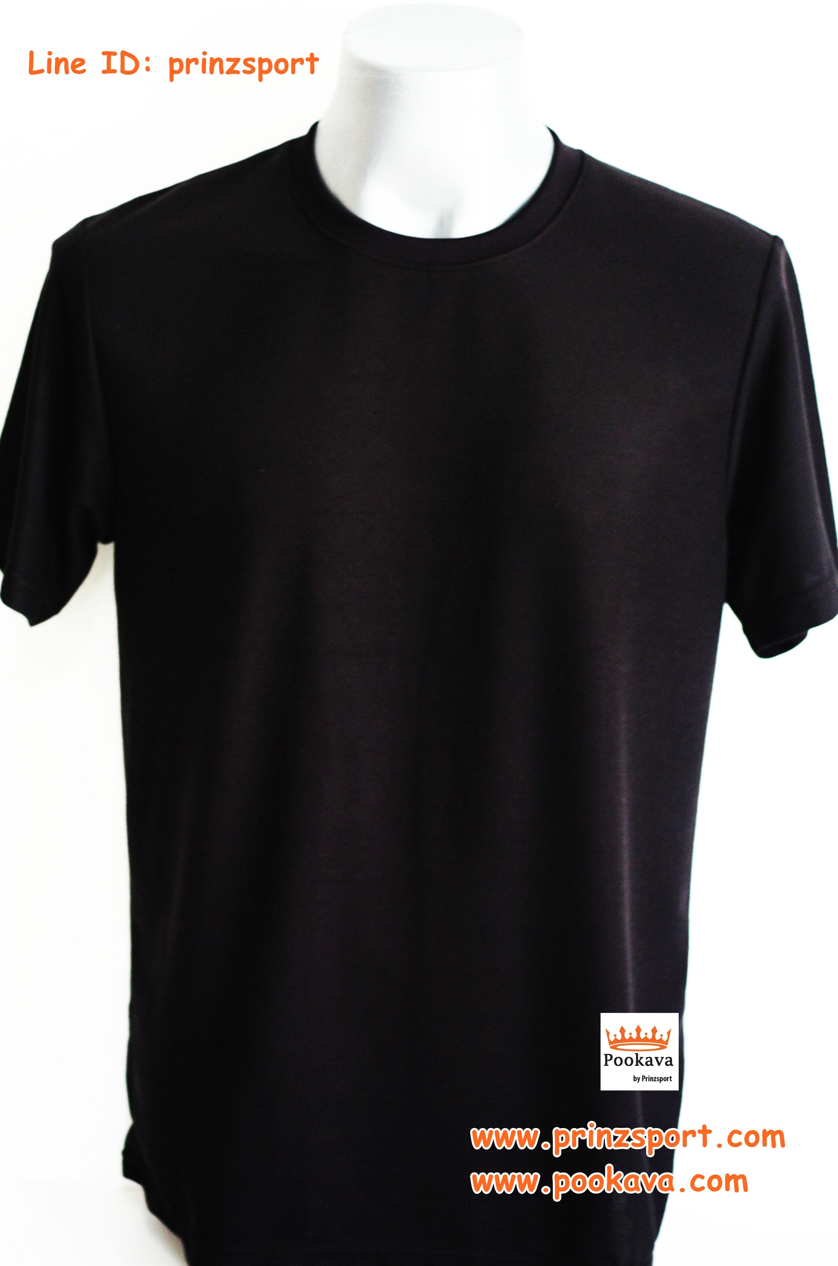 พร้อมส่ง ไซส์ L เสื้อคอกลมสีดำ เสื้อสีดำ ผู้ใหญ่ ผลิตจากผ้าจูติ (ผ้าที่ทำเสื้อโปโล)