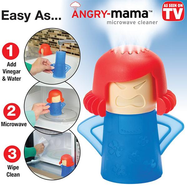 Angry Mama ตุ๊กตาทำความสะอาดเตาไมโครเวฟ