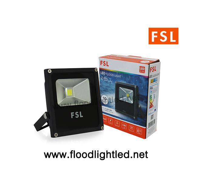 LED Floodlight 10w FSL แสงวอร์มไวท์ (แสงสีส้ม)