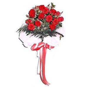 ช่อกุหลาบวาเลนไทน์แดงหรือขาวช่อเล็ก 10 ดอก