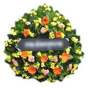 หรีดดอกไม้สด