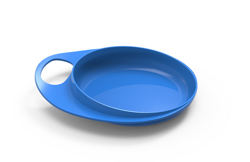 Nuvita - EasyEating Dish จานพร้อมที่จับถนัดมือ สีฟ้า