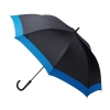 Waterfront Windproof Jumping Walking Umbrella ร่มยาวระบบออโต้เปิด กันยูวี ต้านลมแรง กระโดดข้าม - น้ำเงิน