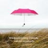 Windproof UV Folding Umbrella ร่มพับ ต้านลม 3ตอน เคลือบเงิน กันแดด กันยูวี กันฝน-ชมพู