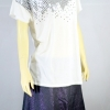 CPS เสื้อยืดผู้หญิงสีขาว ปักเลื่อมเงิน